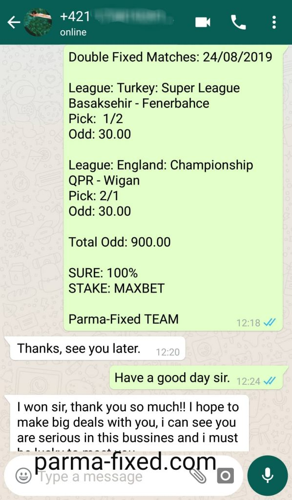 fixed match bet
